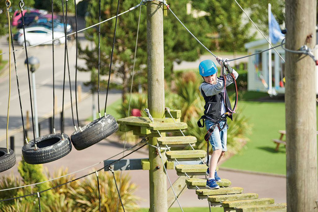 TRYING OUT THE ROPES COURSE AT GOLDEN SANDS