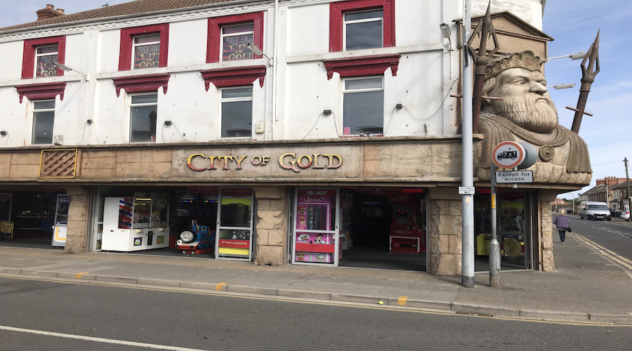 ATM AT CITY OF GOLD ARCADE MABLETHORPE