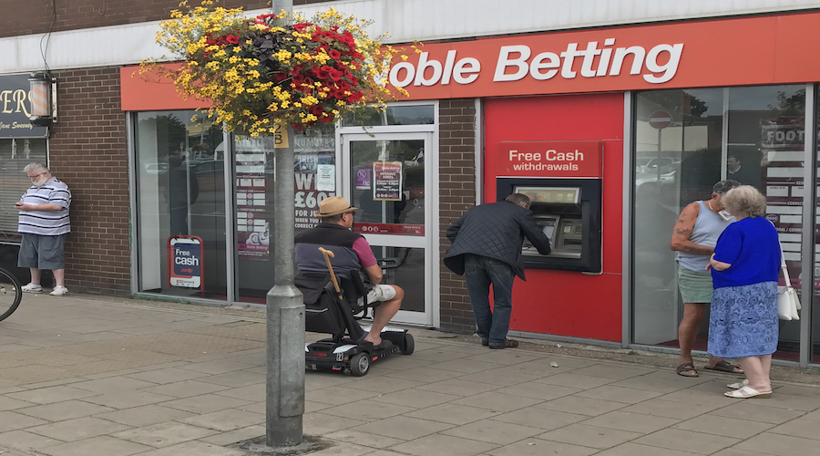 ATM AT DON NOBLE BOOKMAKERS MABLETHORPE