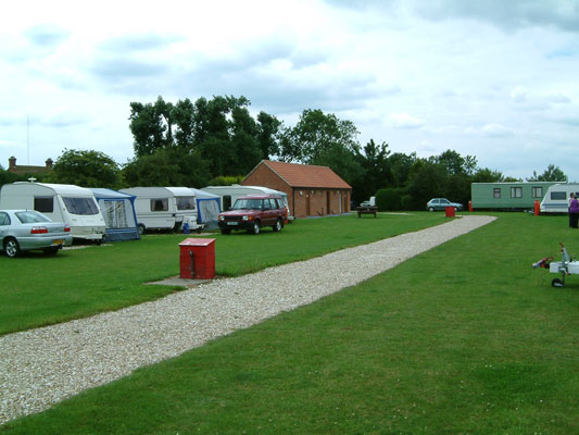 VIEW OF THE CARAVAN SITE AT THE FISHERIES