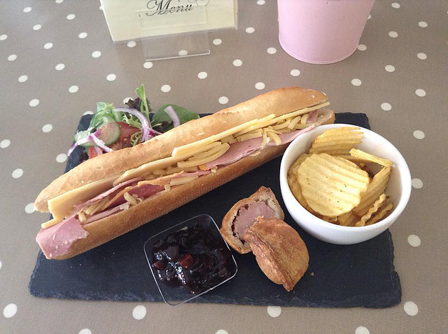 PLOUGHMANS BAGUETTE AT LADY Bs