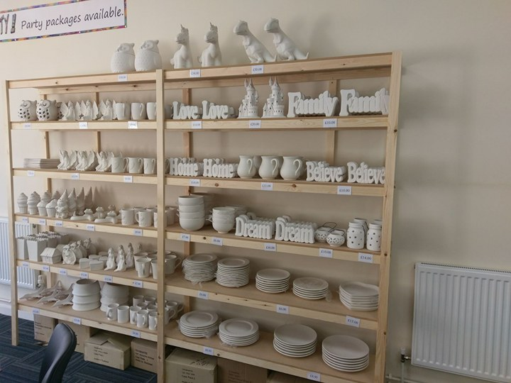 SOME OF THE POTTERY CHOICES AVAILABLE TO YOU AT EASTSIDE CERAMICS MABLETHORPE