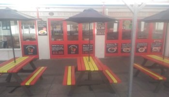 ENJOY SEATING OUTSIDE AT THE MATADOR CAFE MABLETHORPE